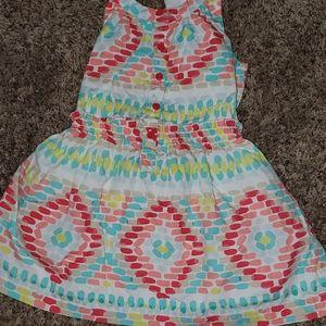 Gymbore dress CUTE Pattern w/cross straps